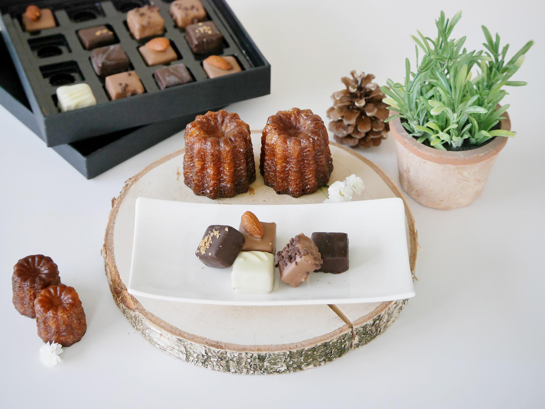 Nos Canelés peuvent servir de ganache pour des chocolats